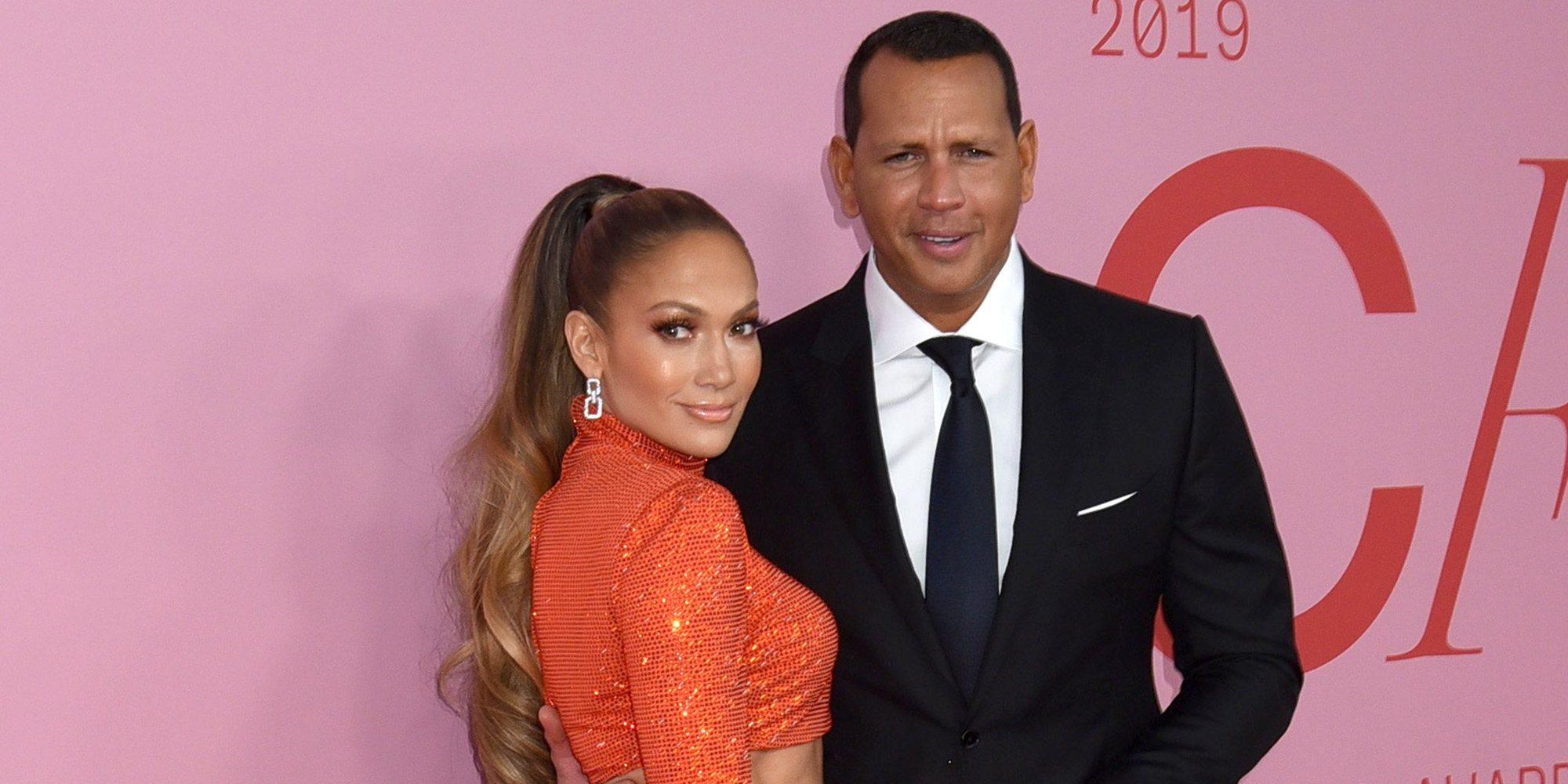 Jennifer Lopez y Alex Rodriguez celebran su fiesta de compromiso en Los Ángeles junto a sus hijos