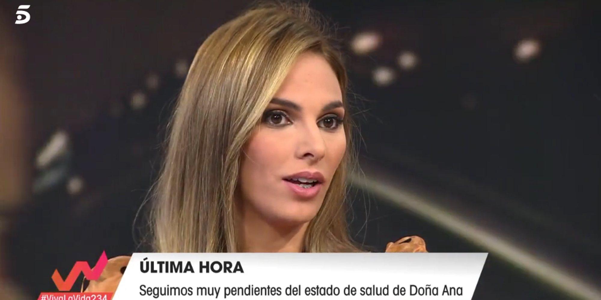 Irene Rosales cuenta en 'Viva la vida' cómo se encuentra Doña Ana