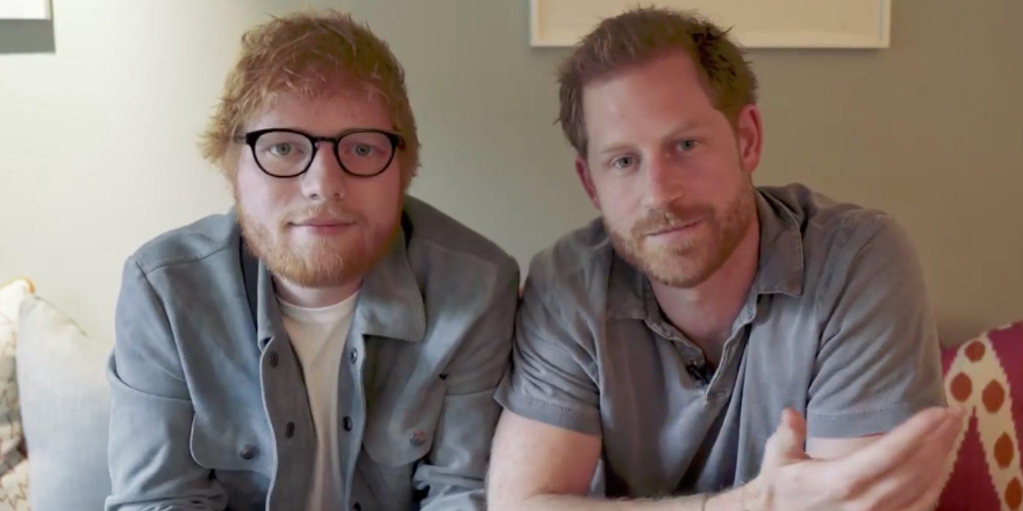 El divertido encuentro con el que el Príncipe Harry y Ed Sheeran unen sus fuerzas por la salud mental