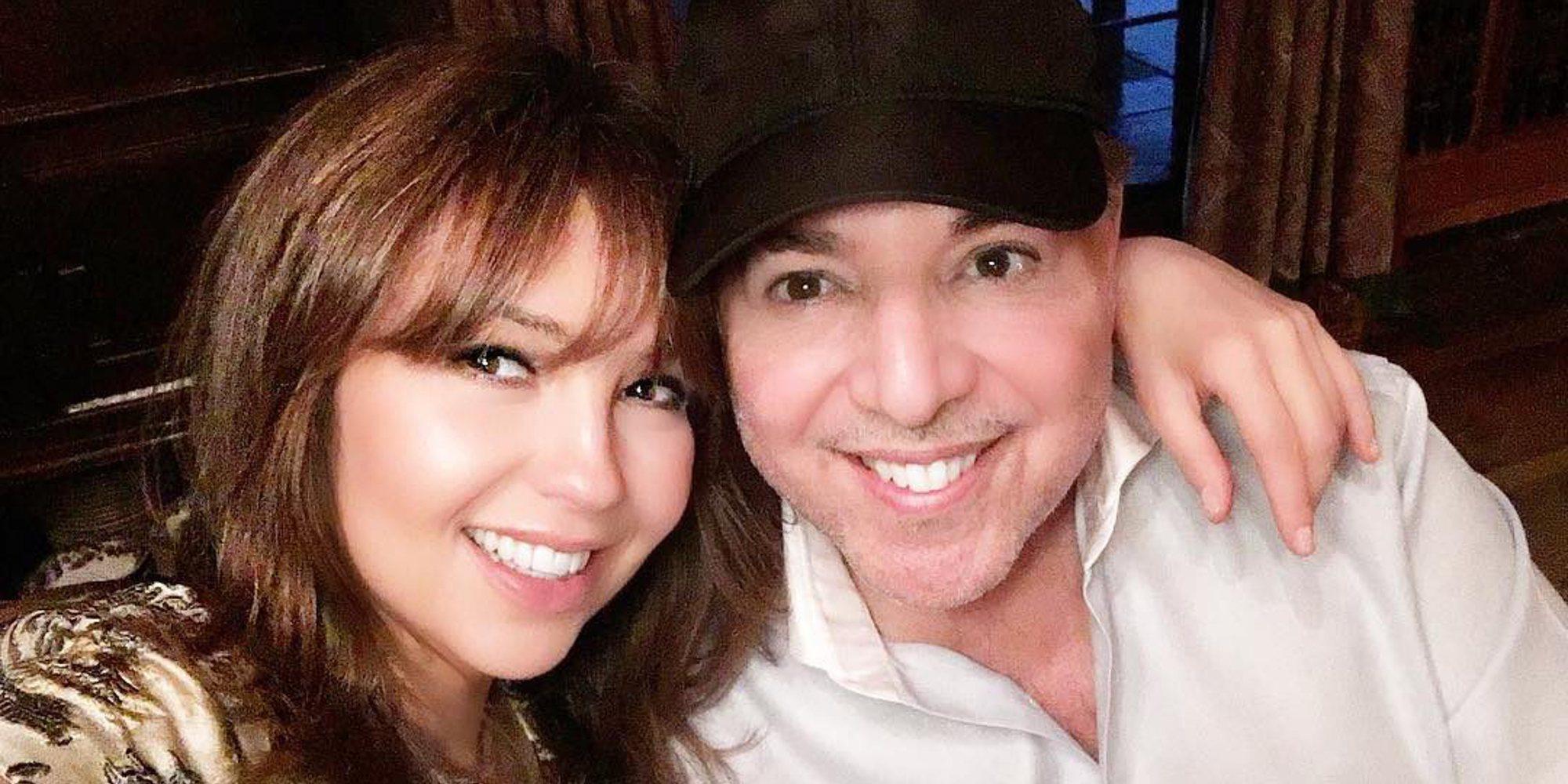 Thalía roba el protagonismo a su marido Tommy Mottola el día que recibía la estrella en el Paseo de la Fama