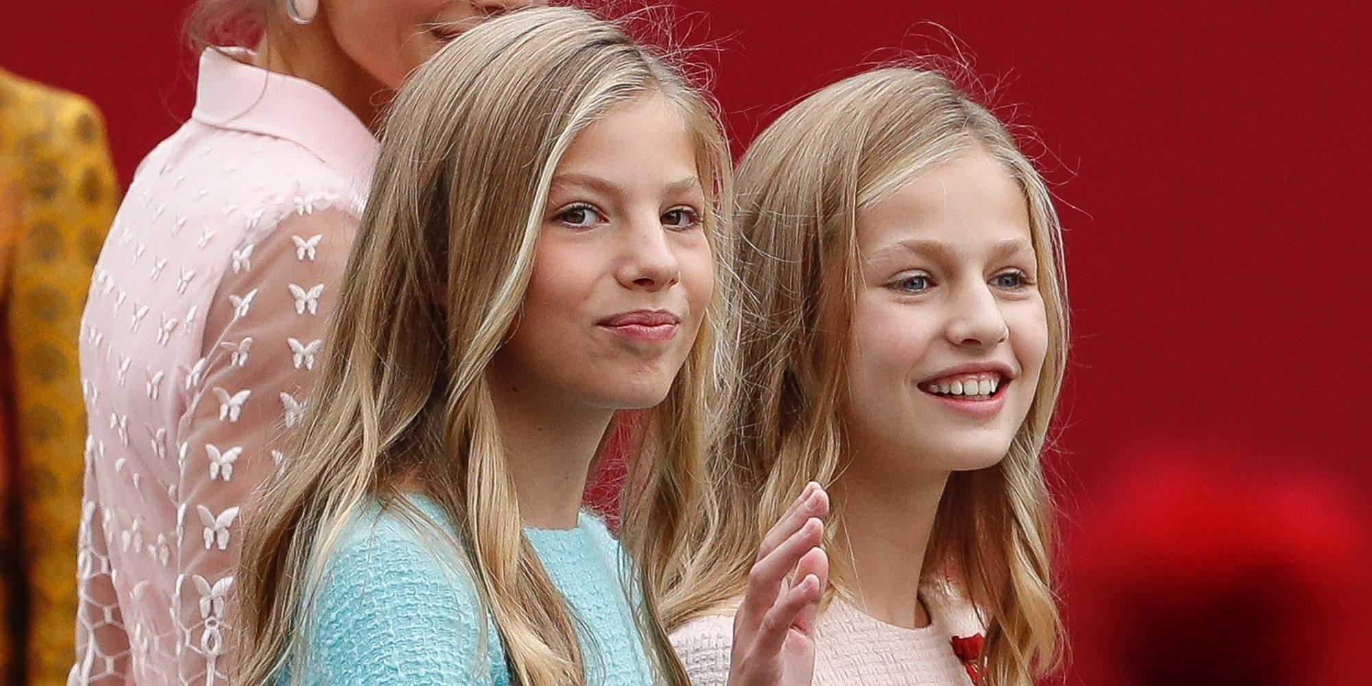El Día de la Hispanidad 2019, marcado por un gran susto y las sonrisas de la Princesa Leonor y la Infanta Sofía