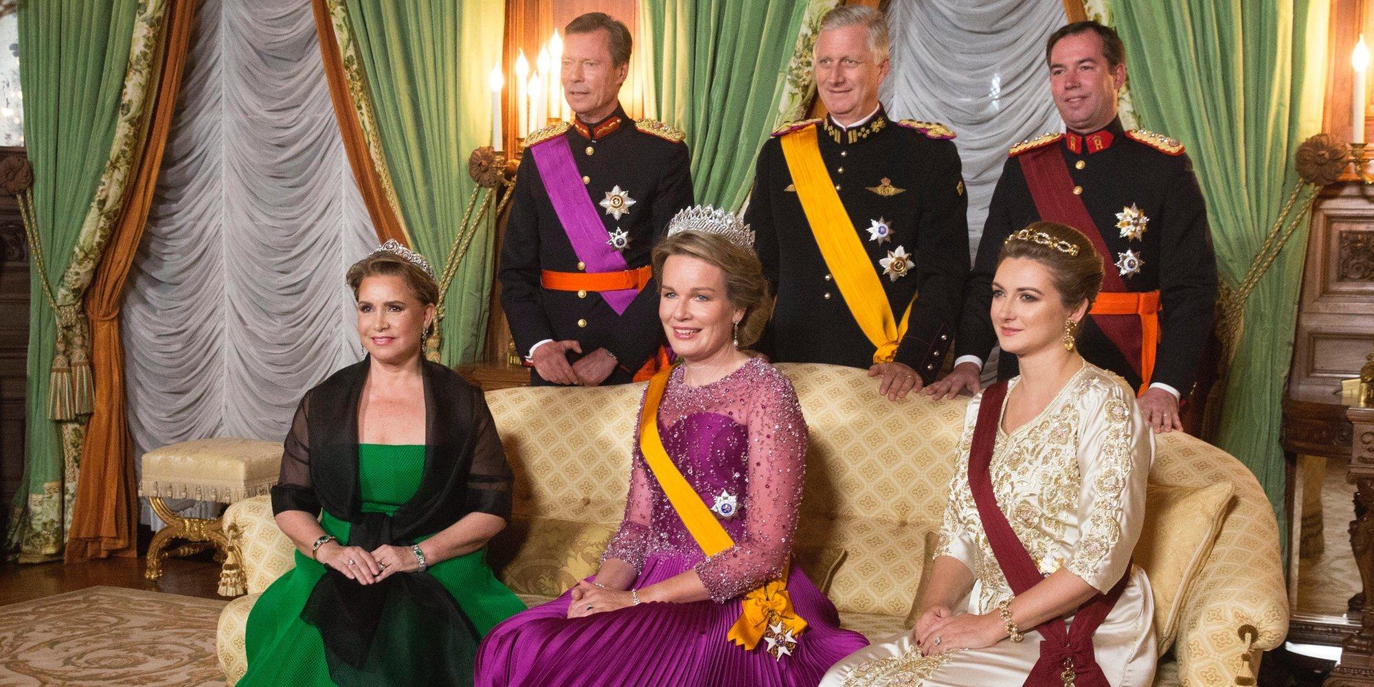 María Teresa de Luxemburgo reaparece tras su operación para la cena de gala a sus primos, los Reyes de Bélgica
