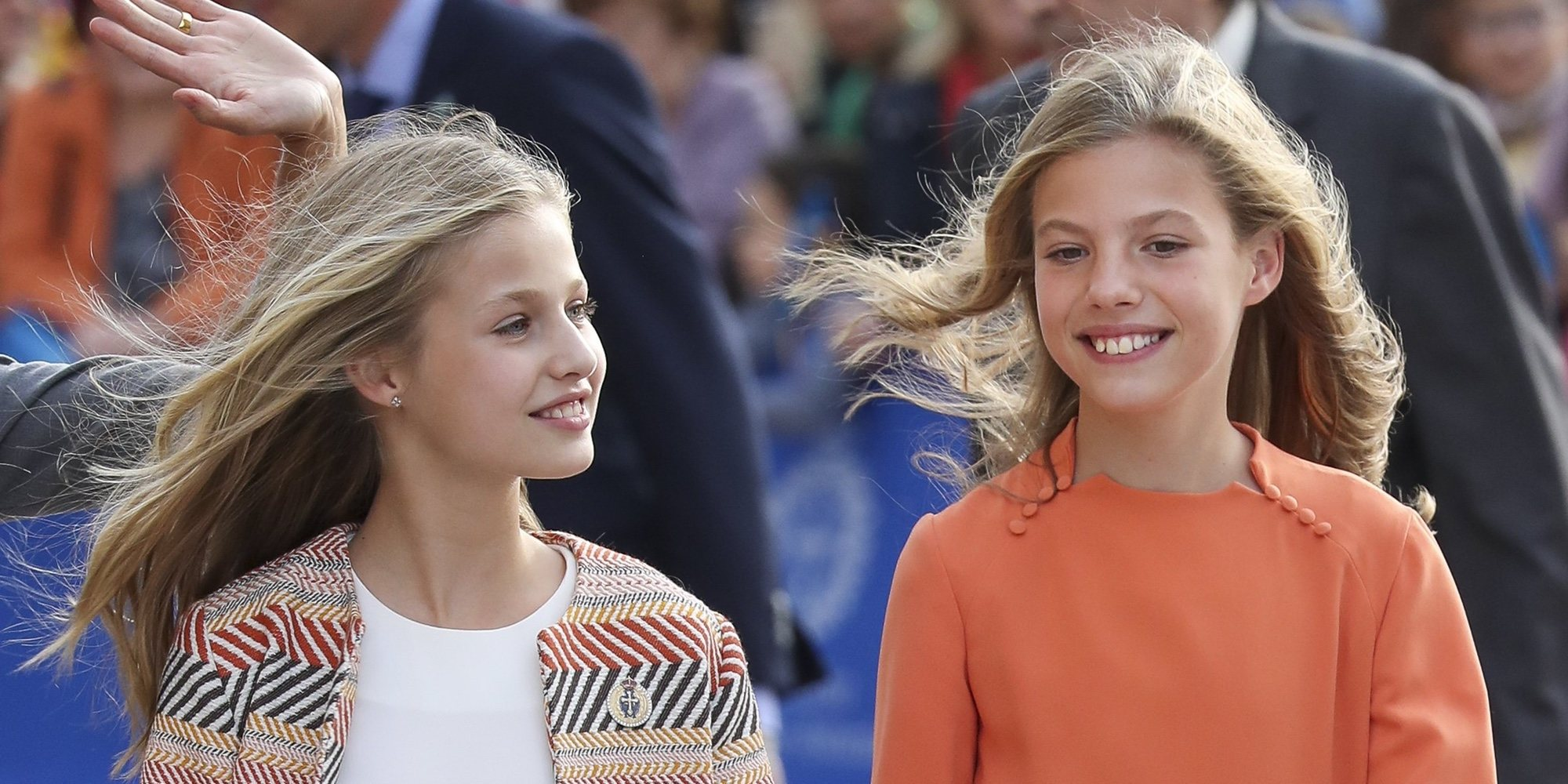 Baño de masas, anécdotas y una Princesa Leonor muy 'cantarina' en su debut durante su visita oficial a Oviedo