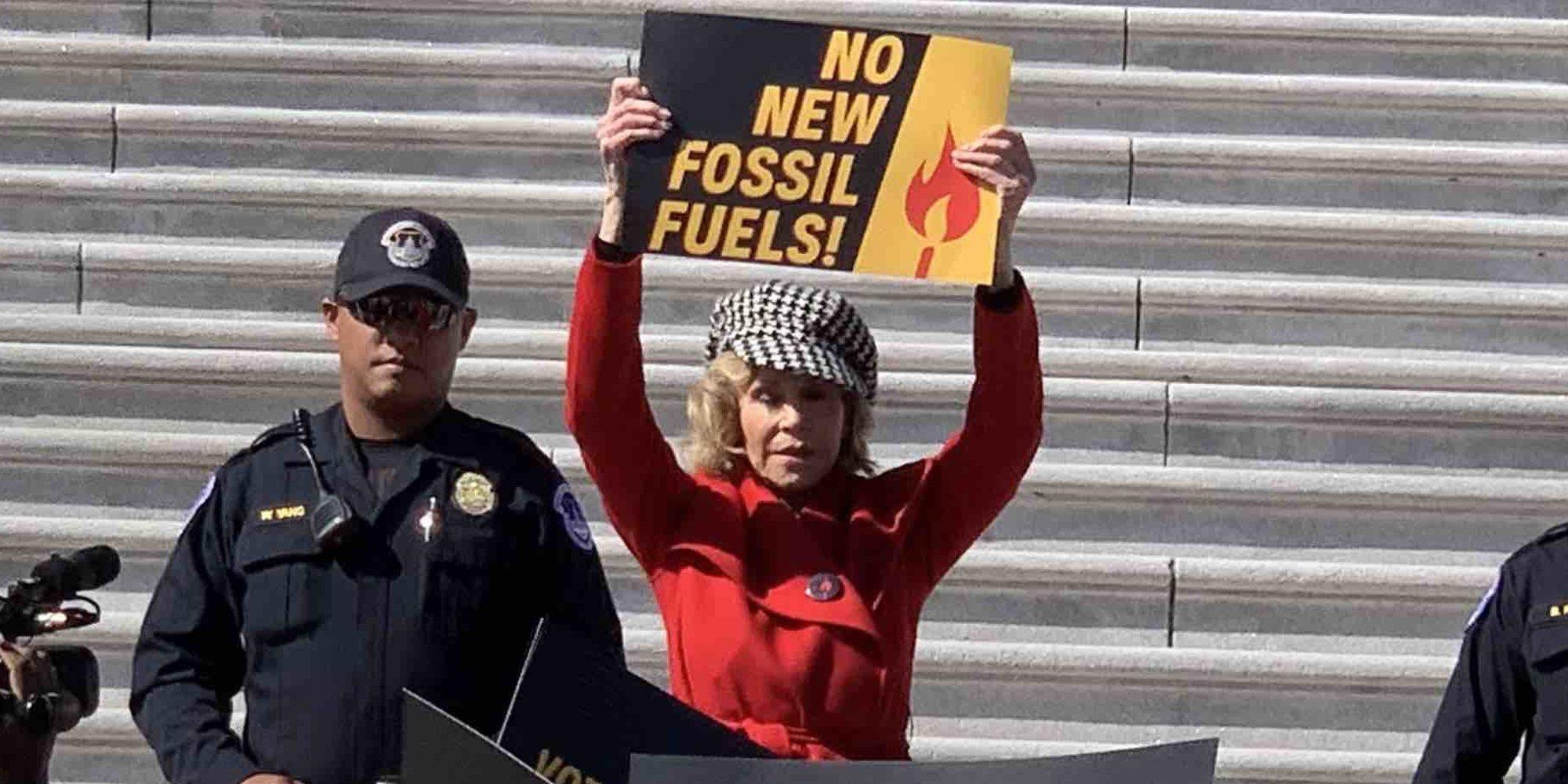 Jane Fonda, detenida de nuevo por su lucha contra el cambio climático