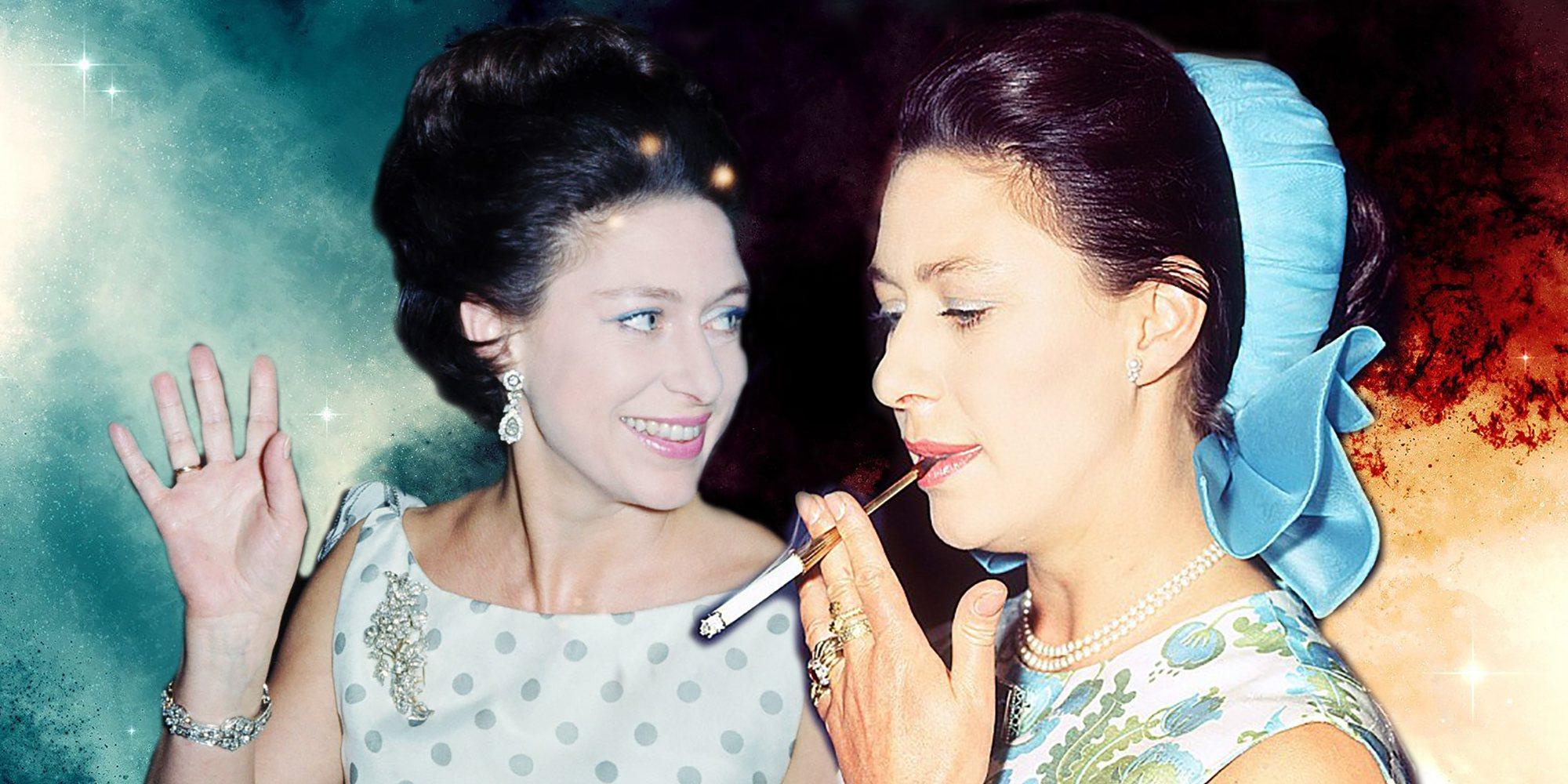 Las dos caras de la Princesa Margarita, la hermana irreverente de la Reina Isabel