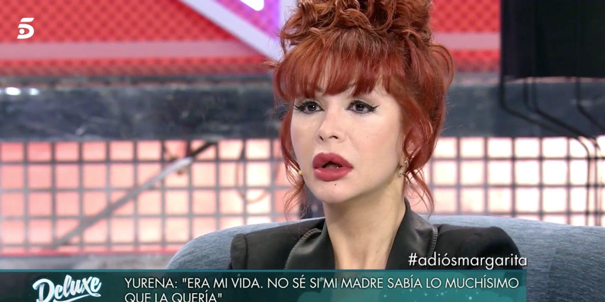 """Yurena, destrozada por la muerte de Margarita Seisdedos, agradece el apoyo de Isabel Pantoja: """"Me hizo llorar"""""""