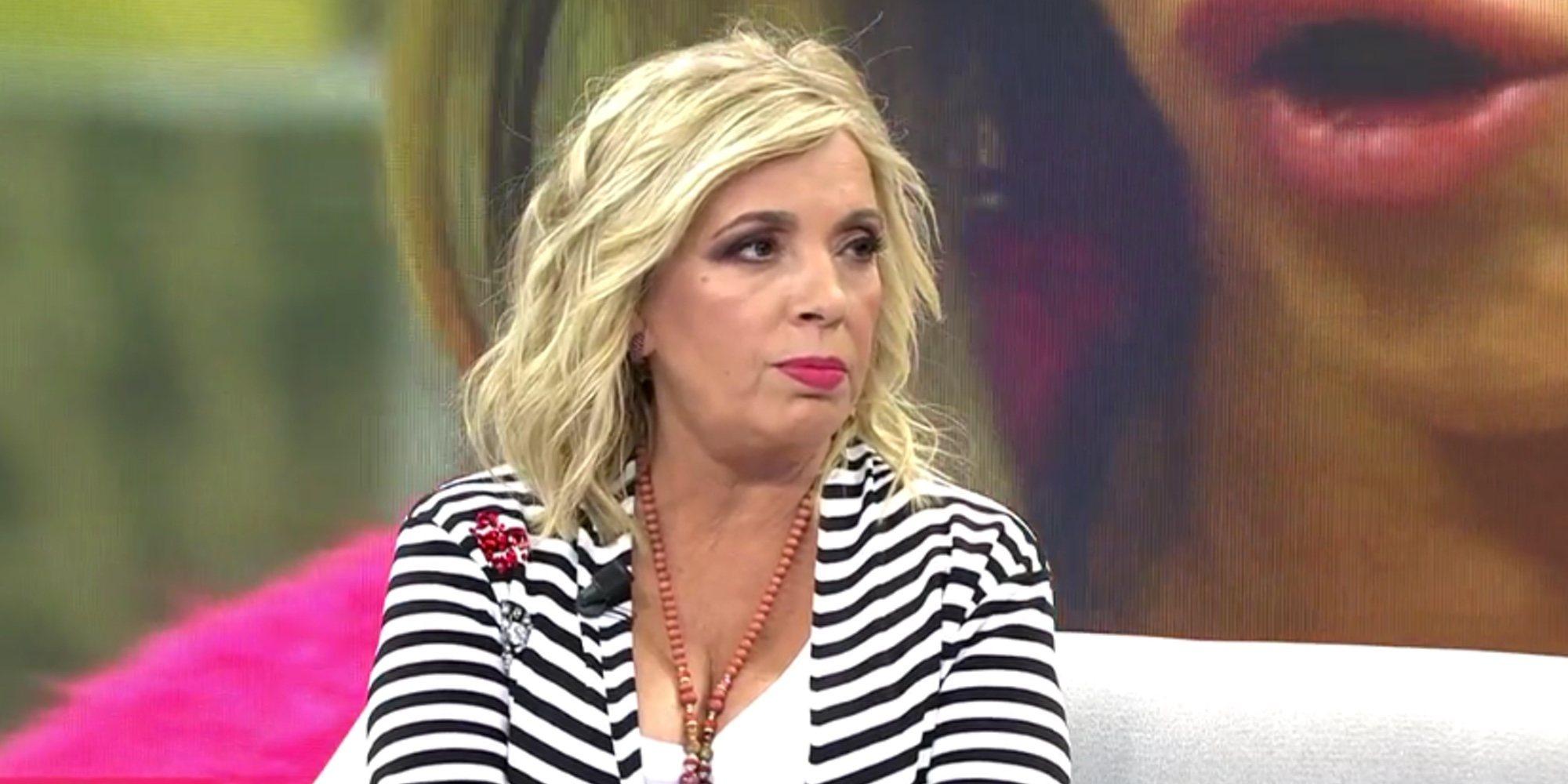 """Carmen Borrego arremete contra 'Sálvame': """"Yo les caigo mal pero a mí ellos también me caen muy mal"""""""