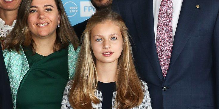 La Princesa Leonor recibe a los galardonados en los Princesa de Girona 2019 junto a los Reyes y la Infanta Sofía