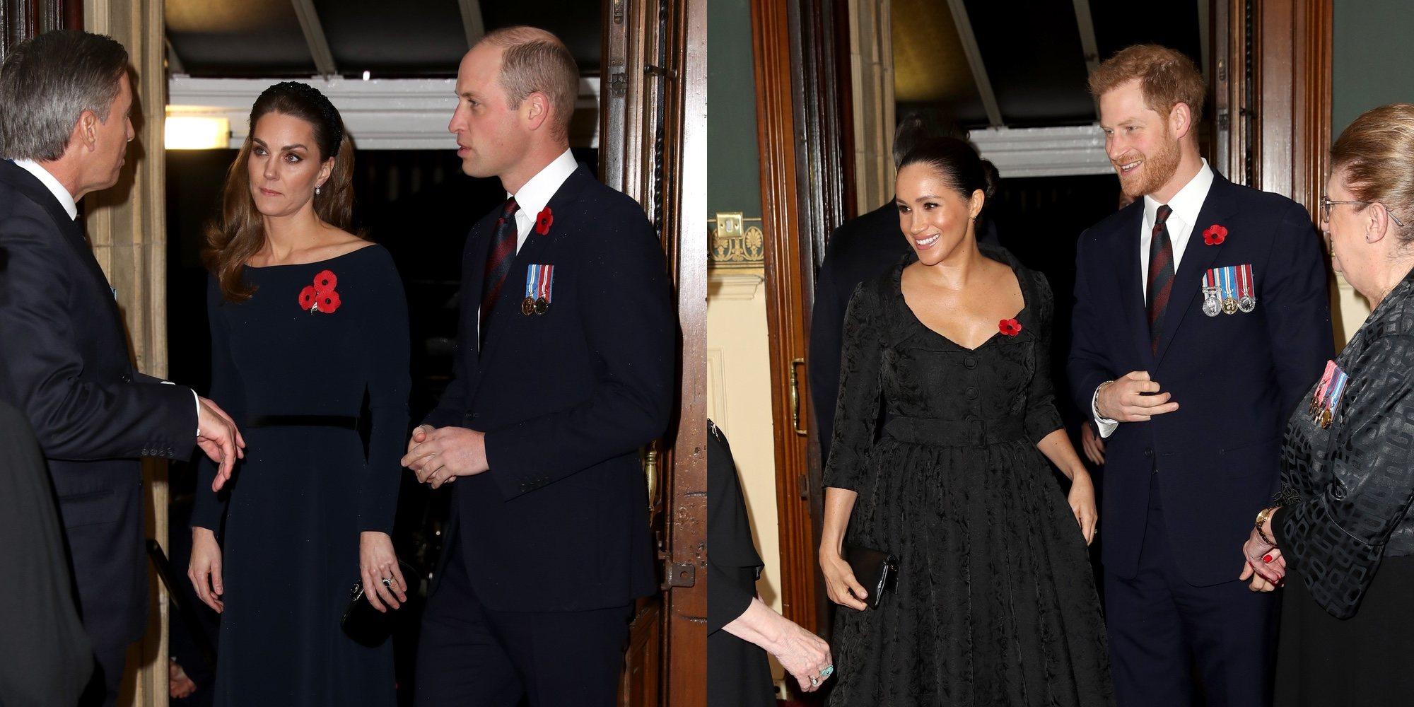 Los Duques de Cambridge ponen distancia con los Duques de Sussex en su aparición conjunta
