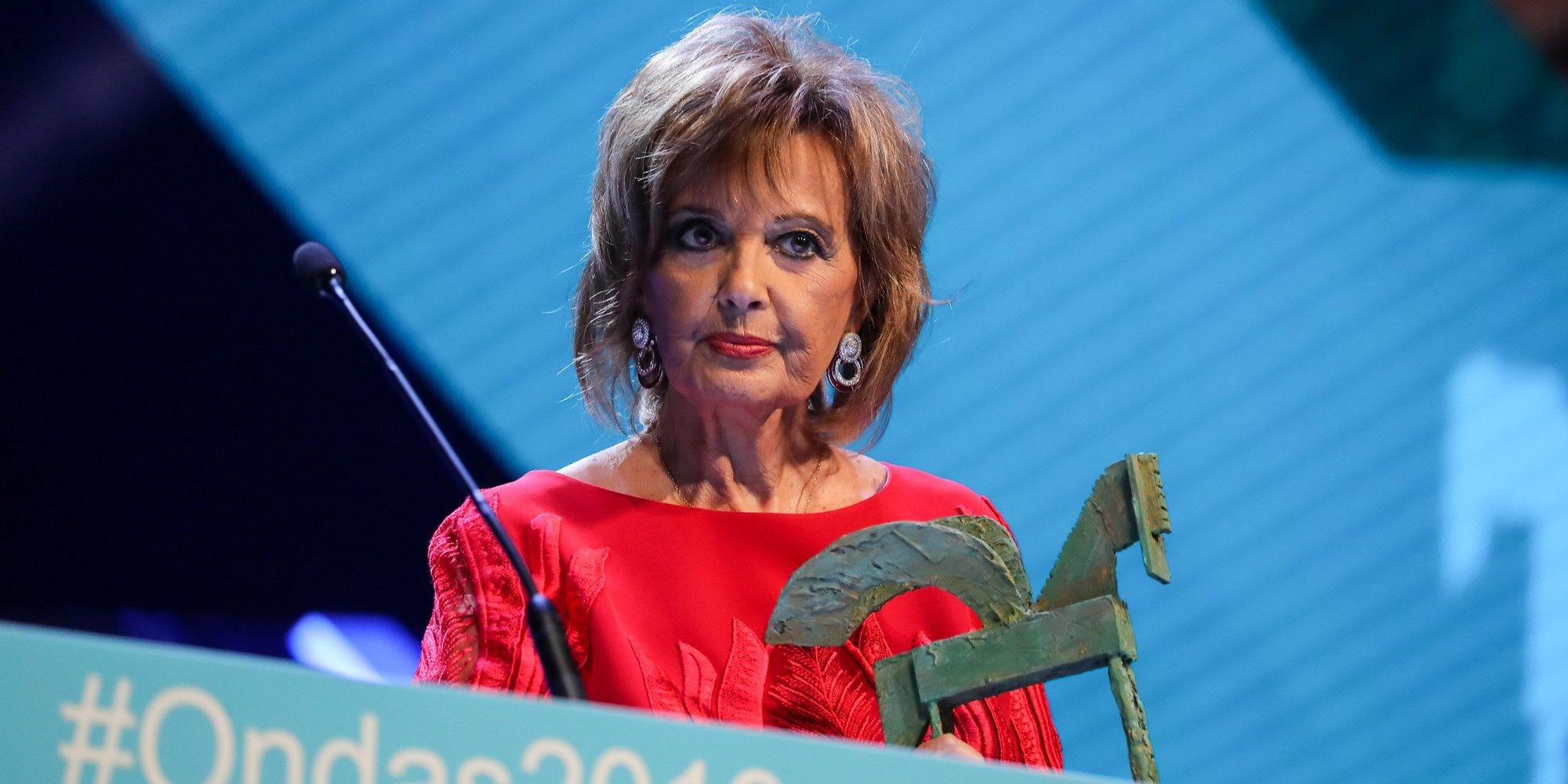 María Teresa Campos reaparece en los Premios Ondas 2019 resplandeciente y con nuevo look