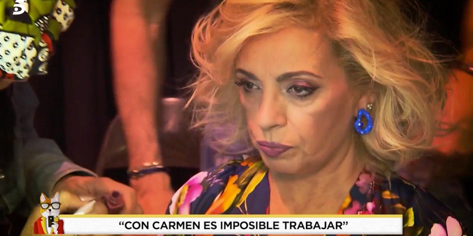 """Los exestilistas de Carmen Borrego arremeten contra ella: """"Es una persona altiva y prepotente"""""""