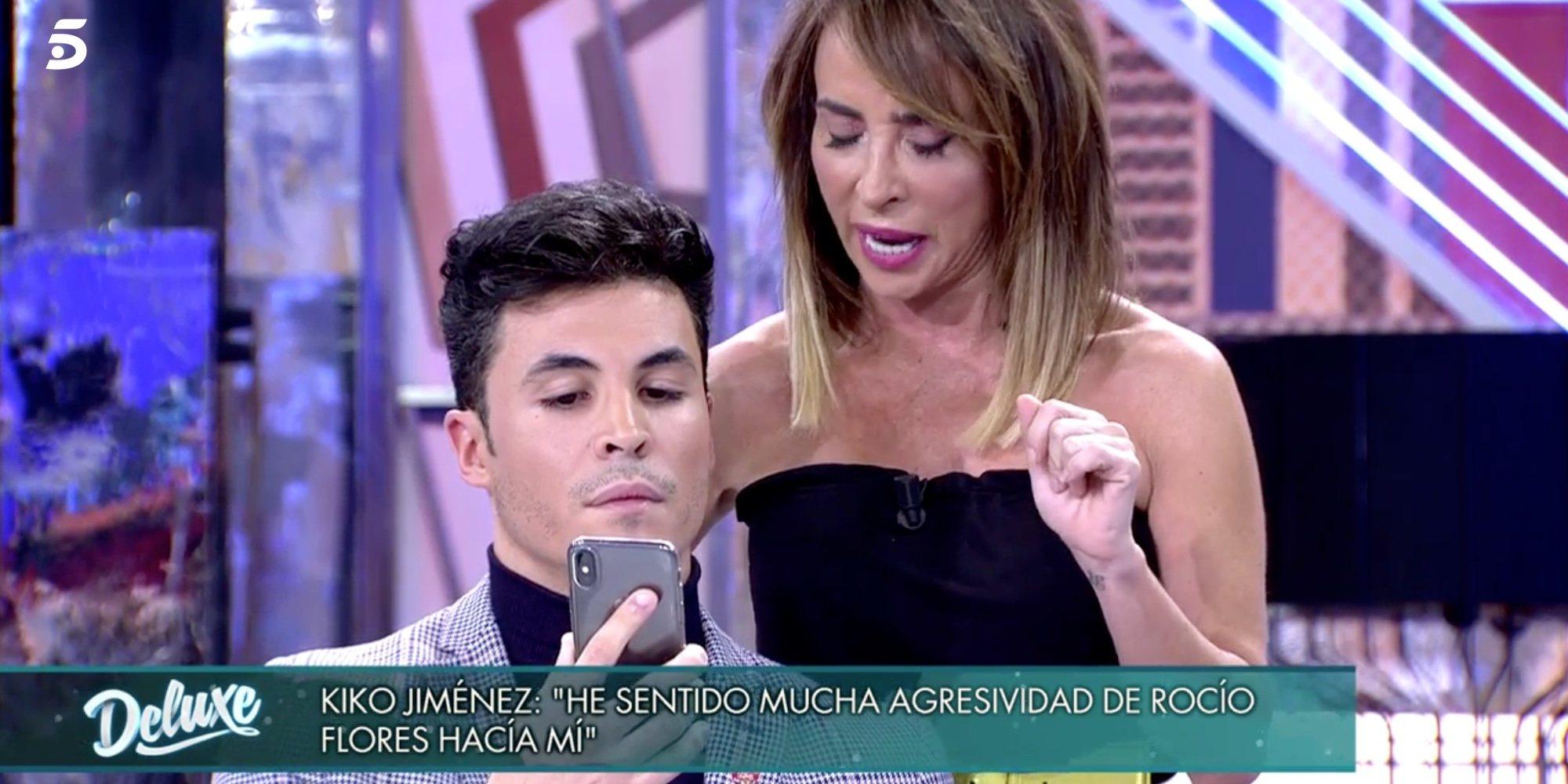 """Kiko Jiménez enseña el mensaje que Rocío Flores le mandó al romper con Gloria K: """"Tienes muy poca vergüenza"""""""