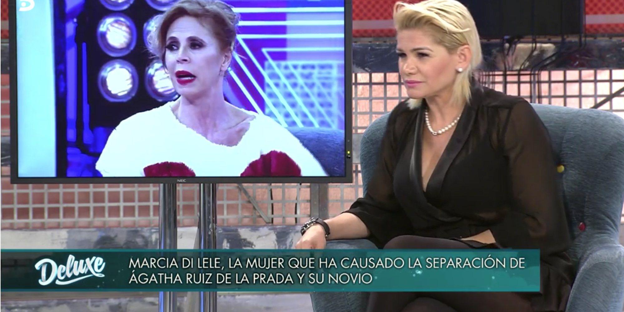 """Marcia Di Lele habla de su pillada con 'El Chatarrero': """"Ágatha Ruiz de la Prada ya está cansada"""""""