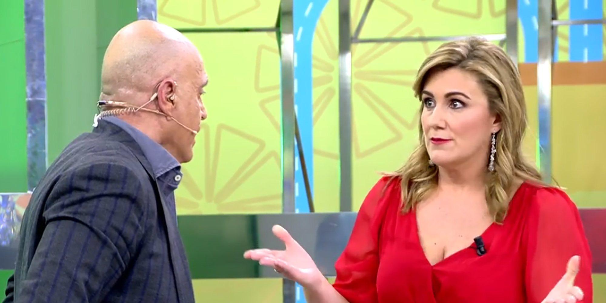 """El duro enfrentamiento entre Kiko Matamoros y Carlota Corredera en 'Sálvame': """"No te permito que me manipules"""""""