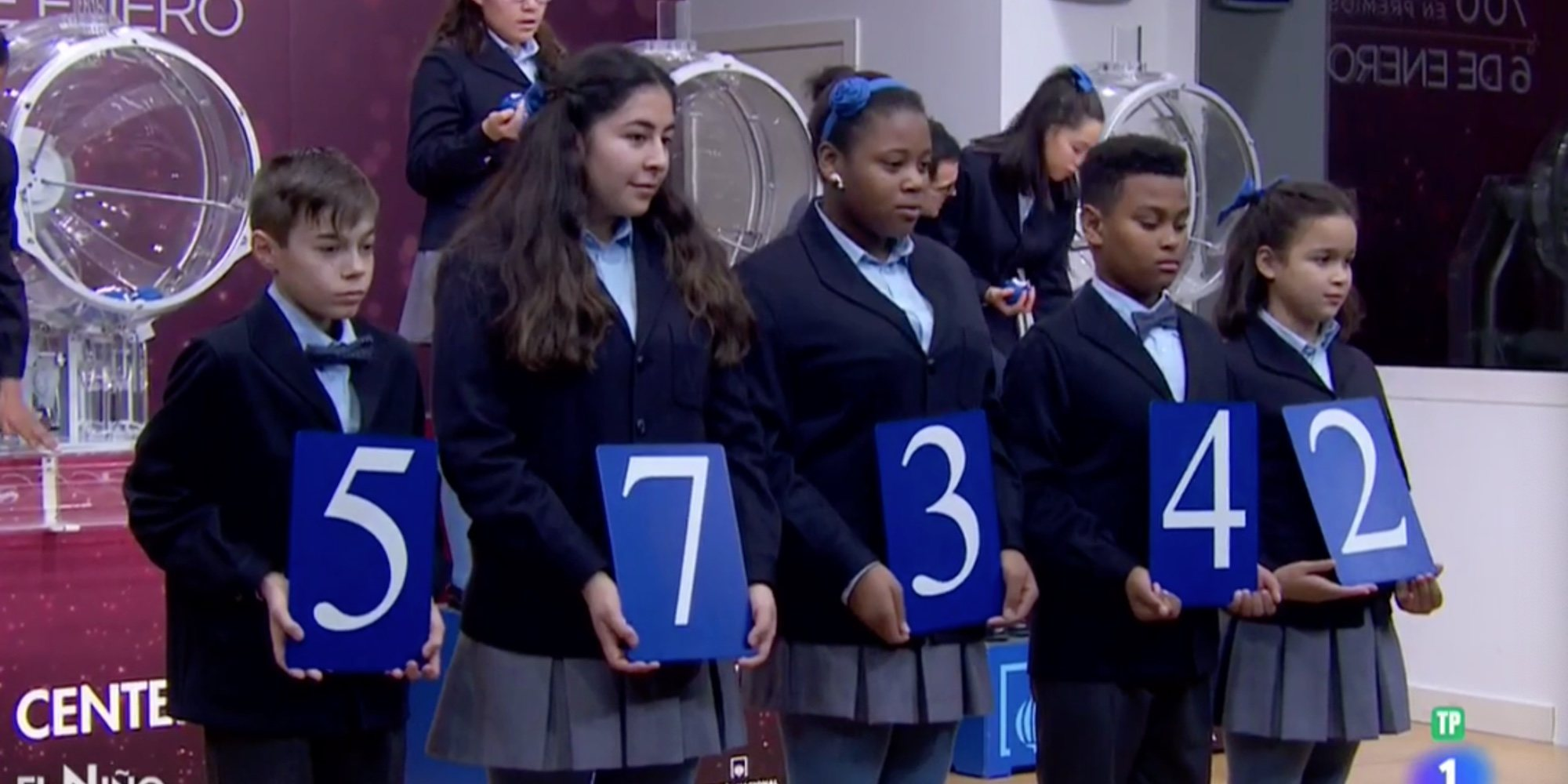Todos los números premiados de la Lotería de El Niño 2020: El Gordo ha sido para el número 57342