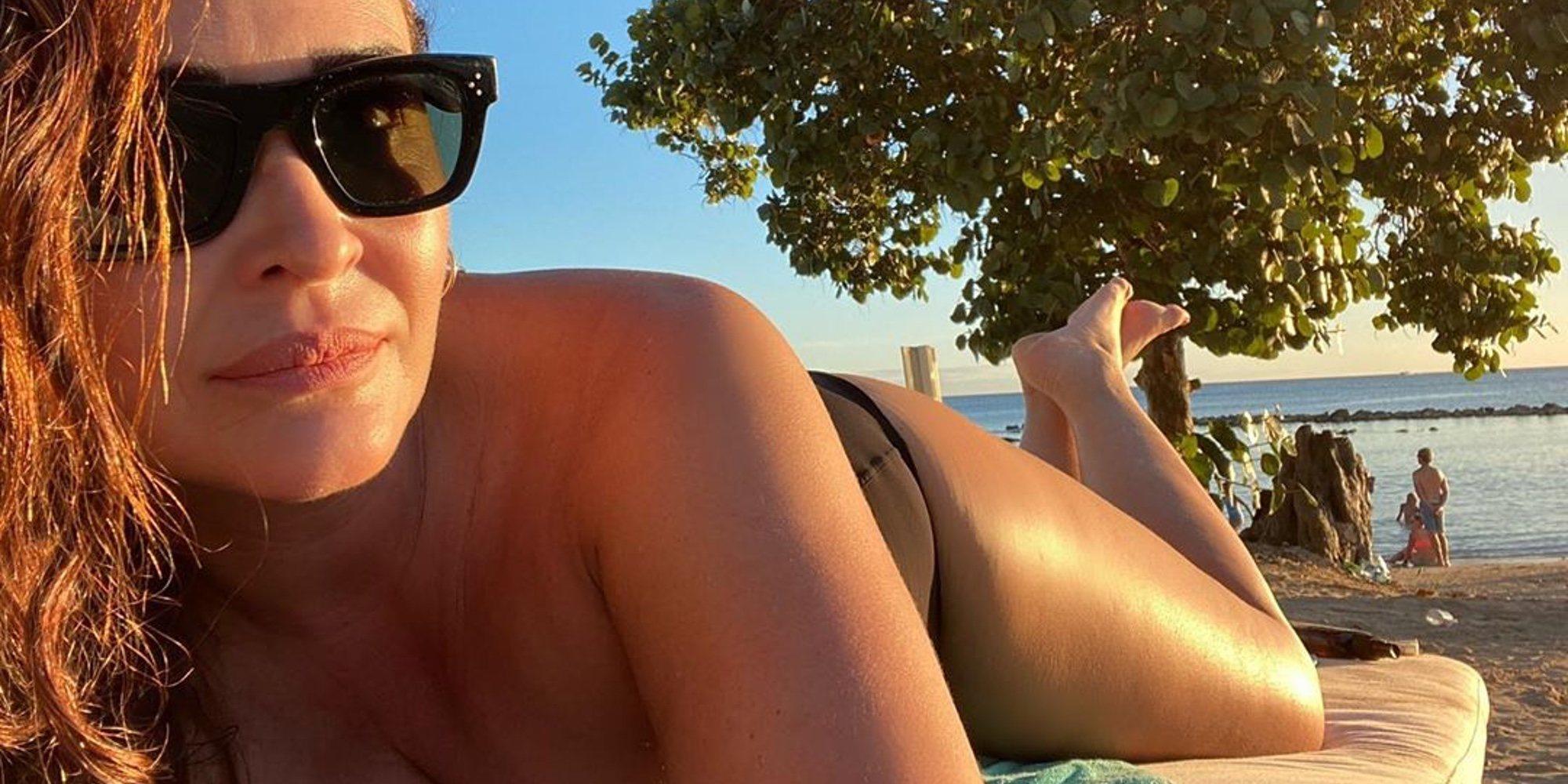 Vicky Martín Berrocal disfruta de los primeros días de 2020 con su chico en el Caribe
