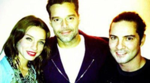 David Bisbal disfruta de la actuación de Ricky Martin en 'Evita' junto a su novia Raquel Jiménez