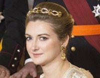 Stéphanie de Luxemburgo presume de embarazo y la Princesa Alexandra sustituye a la Gran Duquesa en una recepción de gala
