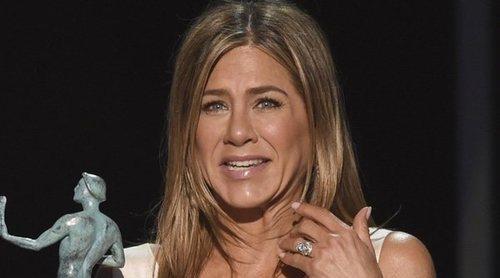 Así fue Jennifer Aniston para que no le salieran arrugas en el vestido en los Premios SAG 2020