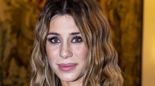 Elena Tablada presume de su embarazo disfrutando de la moda de Cibeles