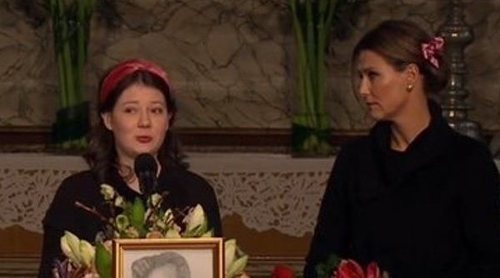 Maud Angelica, hija de Marta Luisa de Noruega, premiada por su discurso en el funeral de su padre, Ari Behn