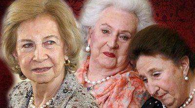 Así ha evolucionado la relación de la Reina Sofía con sus cuñadas, la Infanta Pilar y la Infanta Margarita
