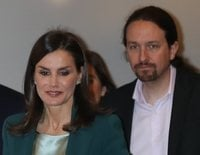 Así ha sido el primer acto oficial en el que la Reina Letizia ha estado acompañada por Pablo Iglesias