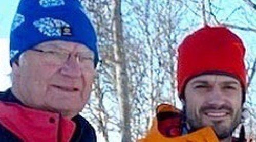 La escapada de la Familia Real Sueca para esquiar muestra a los casi invisibles Alejandro y Gabriel de Suecia