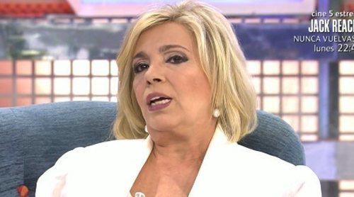 Carmen Borrego trata de limar asperezas con María Patiño en su vuelta a 'Sábado Deluxe'