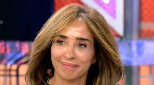 El accidente de María Patiño en 'Sábado Deluxe': 'Se me ha caído un diente'