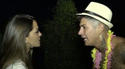 Cristina, a punto de abandonar 'La casa fuerte' tras un baile subido de tono de Ferre a Leticia Sabater