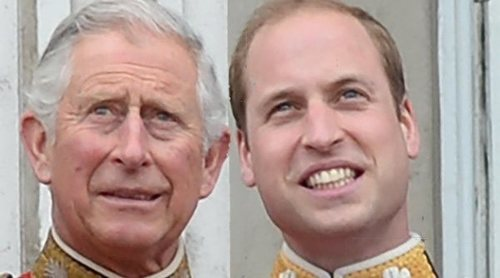 La inusual estampa del Príncipe Carlos y el Príncipe Guillermo con motivo del Día del Padre