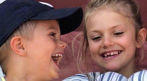 El divertido momento deportivo en familia de Victoria y Daniel de Suecia con sus hijos Estela y Oscar