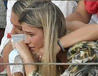 Ana Soria, con el corazón en un puño tras la cogida de Enrique Ponce cuando toreaba en El Puerto de Santa María