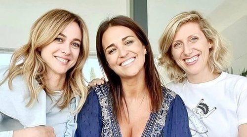 Paula Echevarría celebra su embarazo con las chicas 'Velvet' Marta Hazas y Cecilia Freire