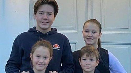Así celebran Christian, Isabel, Vicente y Josefina de Dinamarca la llegada de las vacaciones de otoño