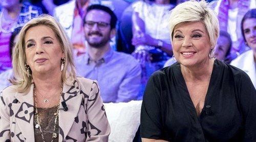 Carmen Borrego y Terelu Campos responde a las críticas a María Teresa Campos tras su paso por el 'Deluxe'