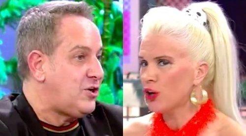 Loli Álvarez vs Víctor Sandoval en el 'Deluxe' por María Teresa Campos y 'Día a día': 'Si cuento lo que has dicho...'