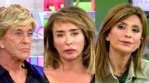 Chelo García Cortés, en la cuerda floja con María Patiño y Gema López tras un comentario sobre su vida privada