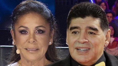 Diego Armando Maradona quiso tener un vis a vis con Isabel Pantoja
