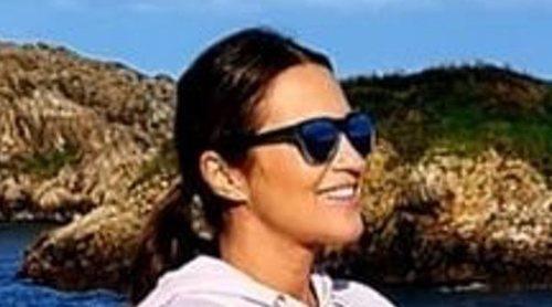 Paula Echevarría presume de embarazo cogiendo energía del mar en Asturias
