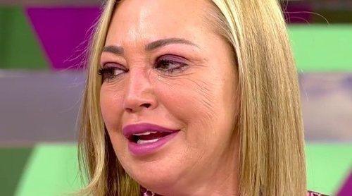 Belén Esteban se emociona al hablar de su madre por no haber pasado la Navidad con ella