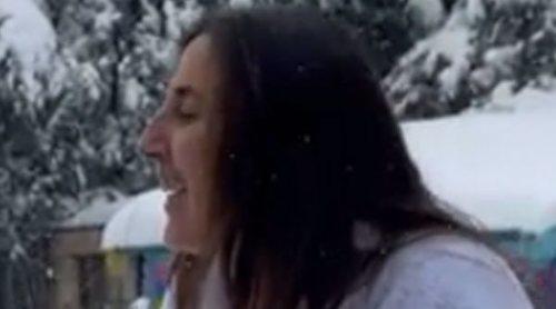 El divertido intento de Paz Padilla de imitar a Cristina Pedroche en la gran nevada de Madrid