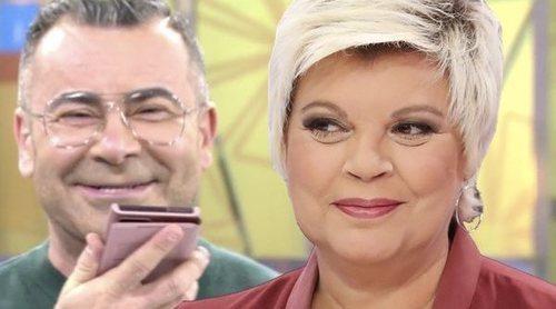 Terelu Campos 'vuelve' a 'Sálvame' y habla por primera vez con Jorge Javier tras su entrevista a María Teresa