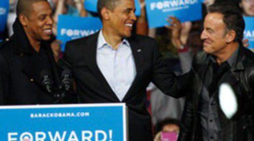 Bruce Springsteen y Jay Z acompañan a Obama en el último acto de su campaña electoral