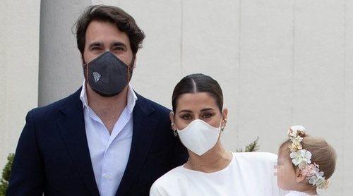 Elena Tablada y Javier Ungría celebran el bautizo de su hija Camila