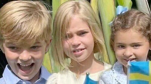 Magdalena de Suecia presume de sus hijos Leonor, Nicolás y Adrienne mientras cuenta los días para volver a Suecia