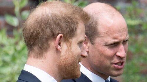 Así fue el reencuentro de los Príncipes Guillermo y Harry en la inauguración de la estatua de Lady Di