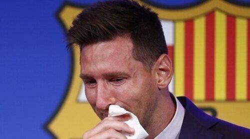Leo Messi, arropado por Antonella Roccuzzo y sus hijos en su emocionante despedida del Barça