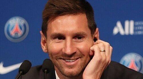 Leo Messi, feliz por convertirse oficialmente en jugador del PSG